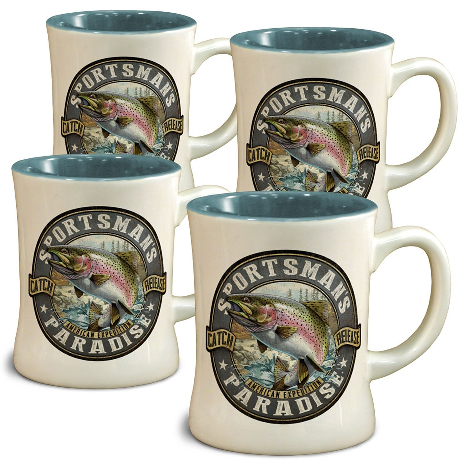 American Expedition Rainbow Trout Diner Mugs (4 Set)