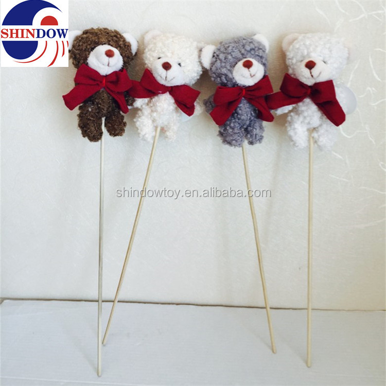 Different types plush stuffed toy bear for festival