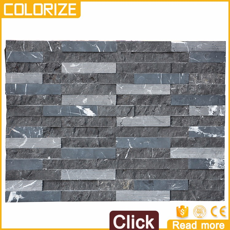 Customized New Design Black Slate Stone Flooring Outdoor