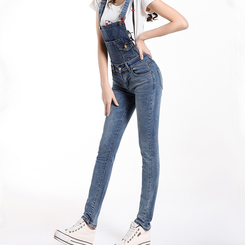Womens Denim Overall Jeans   Bbg Clothing