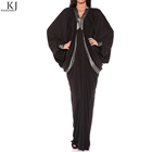 Butterfly style designs Black Camilla kaftan dress wholesale morocco jilbab china manufacturer with small MOQ