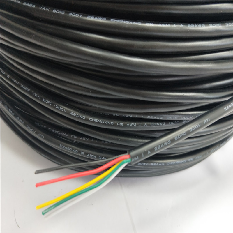 awm 2464 4 conductor cable 28awg vw 1 300V electric wire cable