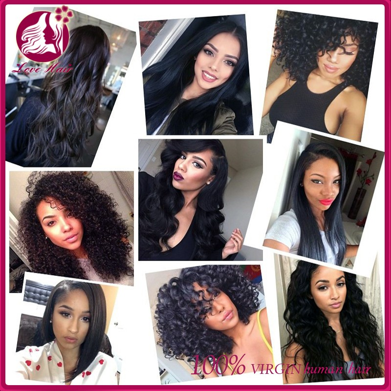4613 Two Tone Ombre Colored Used Hair Weave Bundles Unprocessed