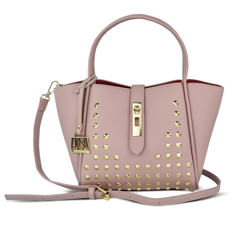 667e4a8105 JASMIN NOIR Brand 2017 Winter New Women Leather Purse and Handbag Big Tote  Bags Rivet Designer Crossbody bags