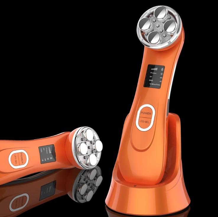2020 최신 장치 얼굴 RF & EMS Electroporation 아름다움 악기 LED 초음파 피부 회춘 아름다움