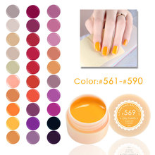 50618a 5ml New 2016 CANNI Brand Nail Art Design141 Color UV LED Soak Off Paint Color Gel 141 Colors Pure Colors UV Gel Lacquer