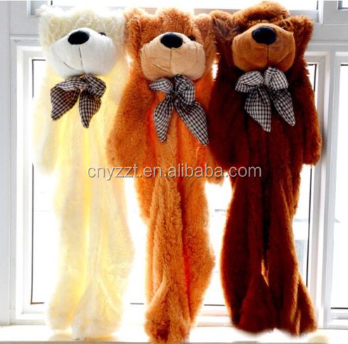 unstuffed bear skin 200cm Cotton Teddy Bear's Skin Soft Animal Skin