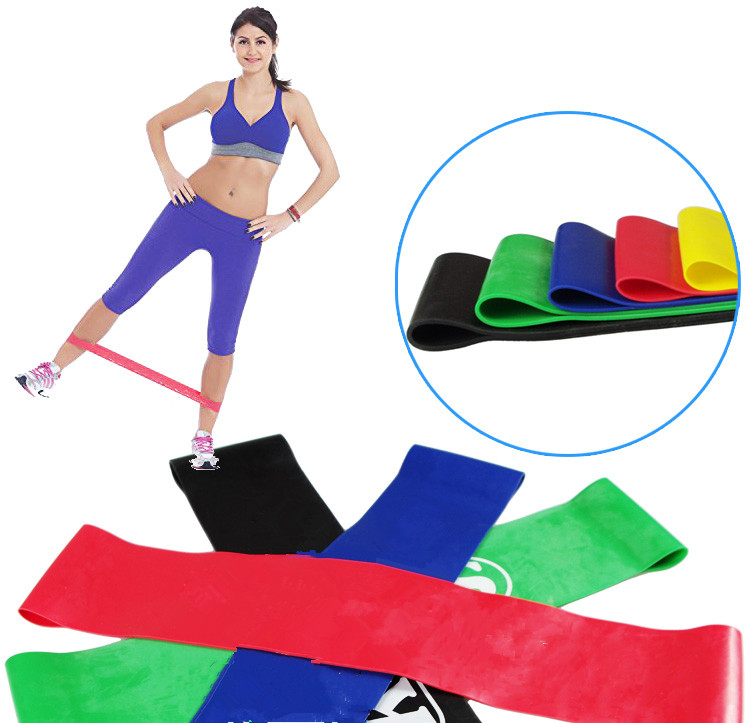 Flexible resistance loop bands,set of 5 with carry bag