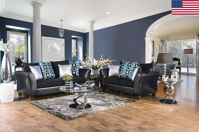 Fantastic Buy Esofastore Contemporary Sofa Loveseat 2Pc Sofa Set Black Gamerscity Chair Design For Home Gamerscityorg