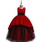 Kids Clothing New Model Girl Dress Wholesale Long Design Wedding Party Wear Girl Princess Dress LP-229