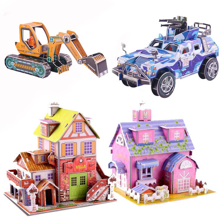 크리 에이 티브 어린이 DIY 퍼즐 장난감 거품 종이 3D 입체 퍼즐 모델
