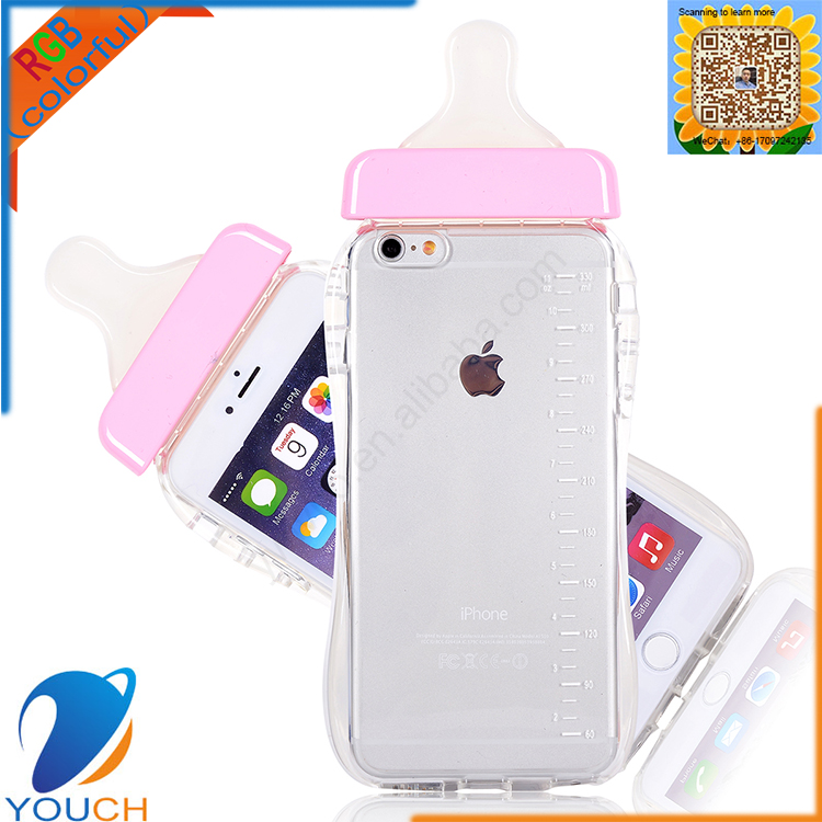 Most popular colorful soft tpu silicone cute young girls style lanyard available feeder phone case for iPhone 6 6s plus