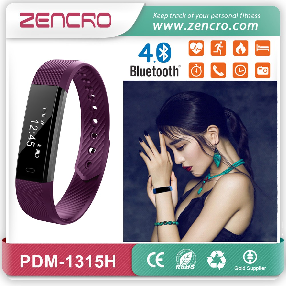 Zencro 2017 Newest Bluetooth 4.0 Veryfit Smart Heart Rate Monitor Wristband Activity Tracker