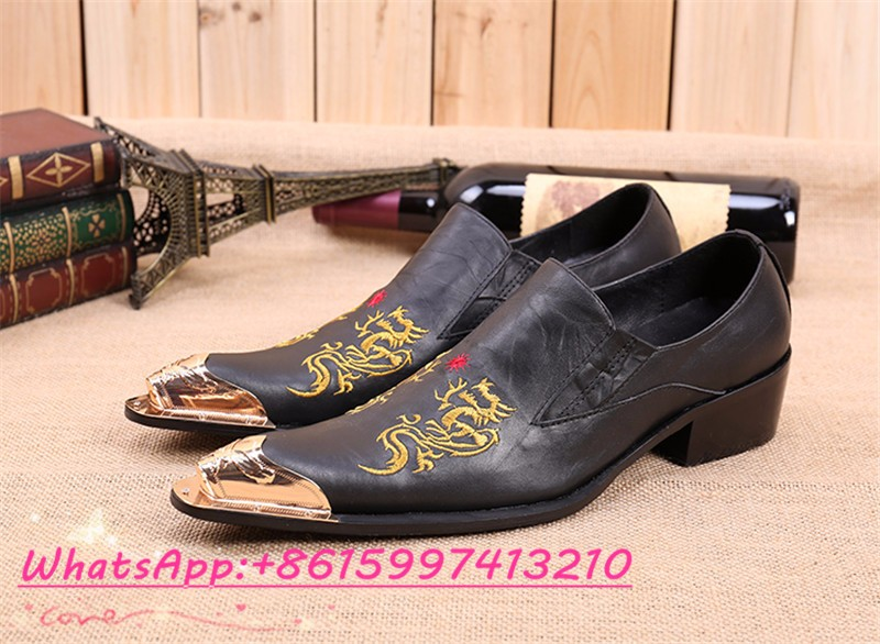 834bfa1267161 Western Style Slip On Mens Pointed Toe Dress Shoes Male Formal Party ...