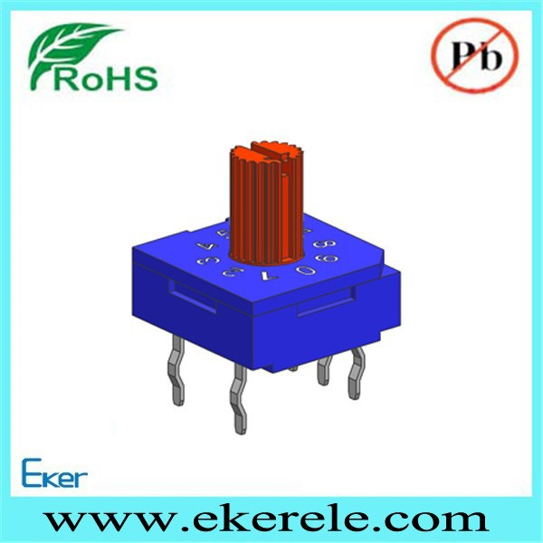 Rotary switch 16 position 10X10mm 7.0mm Rotor 3+2=5 Pins