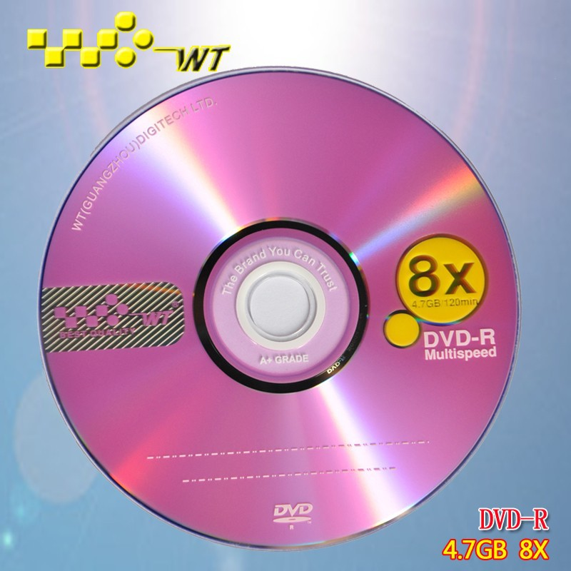 Blank dvdr4.7gb disc on sale! Great quality DVD-R 8X from largest factory in Guangzhou