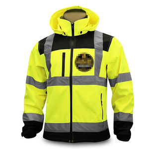 Hi Vis Water Resistant SoftShell Safety Jacket with Reflective