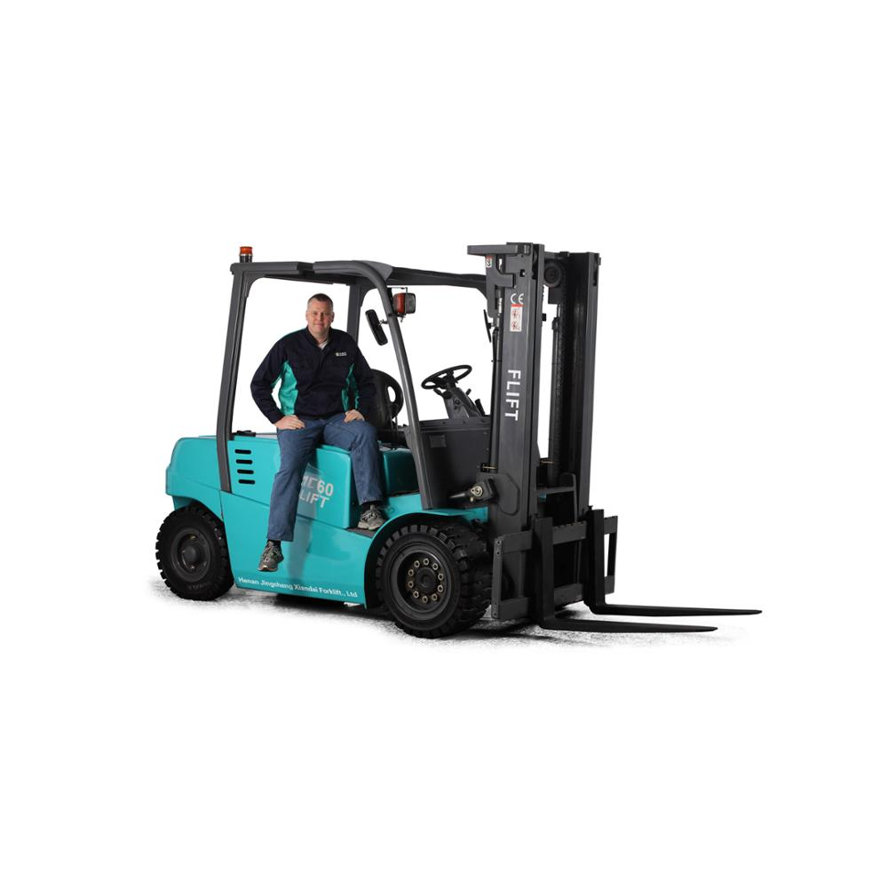 FLIFT 6 ton battery forklift with imported electrical controller, solid tires, 80V/800AH battery