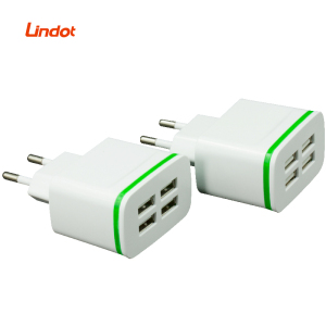 Mobile Phone Accessories Manufactures Universal Wall USB Charger 4 Ports