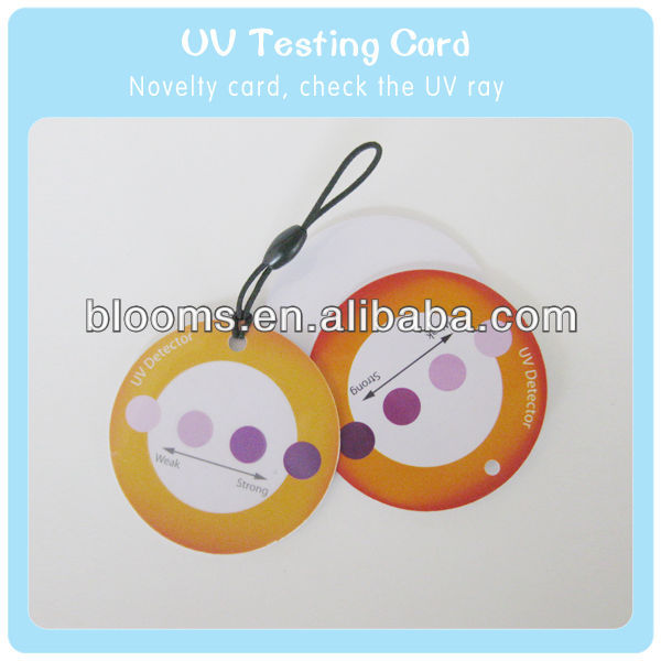Circle Shape Plastic Tag With UV Testing Function