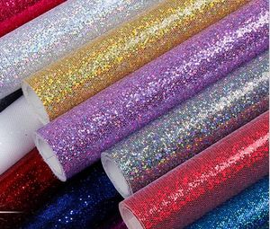 Beautiful and high-quality PU Glitter leather material fo