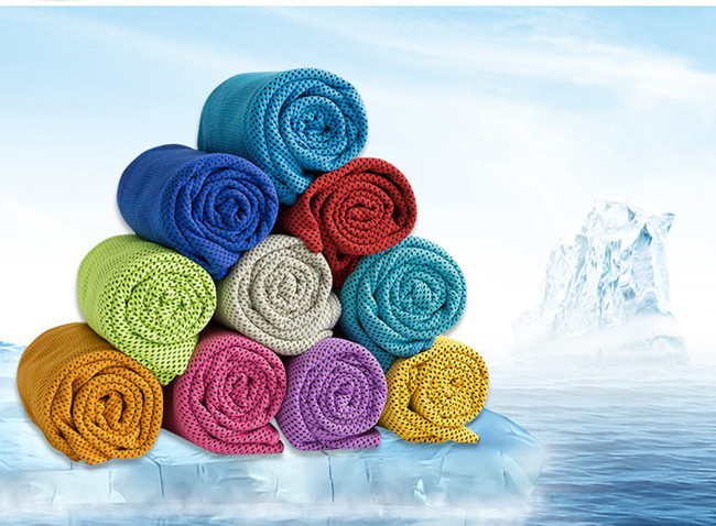 Low price grey black summer chill stitch cooling towels for outdoor sports