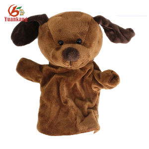 Plush animal toy hand puppet, custom hand puppet promotional hand puppets,