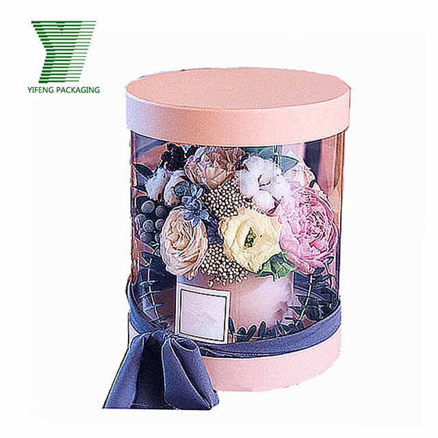 Acrylic PVC Clear White Wedding Round Rose Flower Box