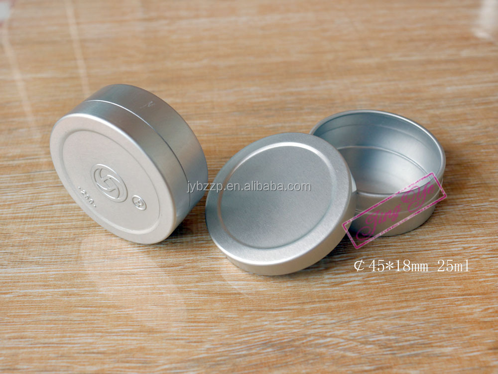 30g/1oz aluminium cap with pet bottle red aluminum jar with screw cover for cosmetic jar