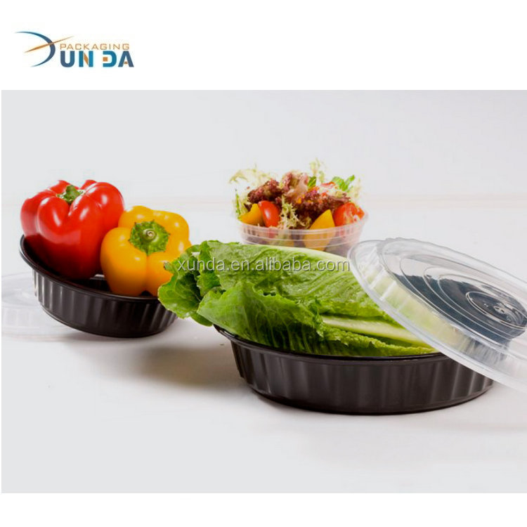 Wholesale Food Clamshell Disposable Black Plastic PP Meal Prep Containers
