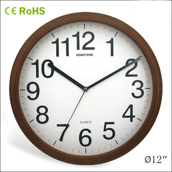 Perfect China New Innovative Wooden Round Reverse Wall Clock(12W50BR 143)