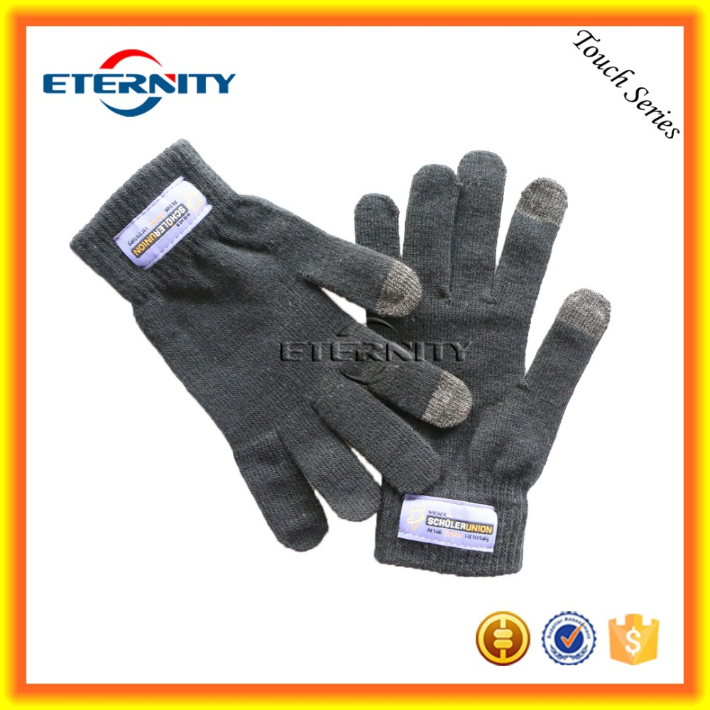 Fashion iGlove black color winter warm touch screen gloves