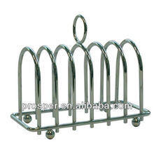Metal wire chrome plated toast holder rack/ bread holder rack