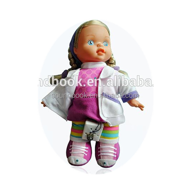 Factory Supply Plastic Talking Baby <strong>Doll</strong> with Music Box custom <strong>dolls</strong> with recordable sound voice box