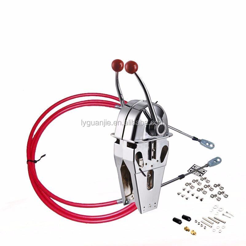Morse Hydraulic Control Cables : Morse mt control twin boat lever with