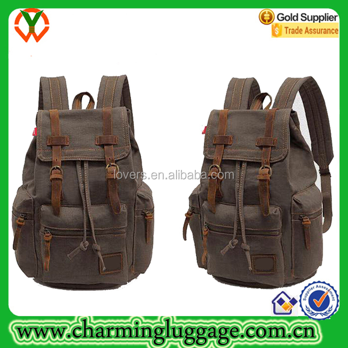 2016 Vintage Canvas Hiking Backpack Wholesale