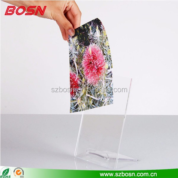 High quality transparent acrylic photo frame with back support wholesale