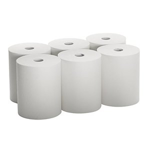 High Capacity Hard Roll Paper Towels (01005), White, 1000'/Roll, 6 Paper Towel Rolls/Convenience Case