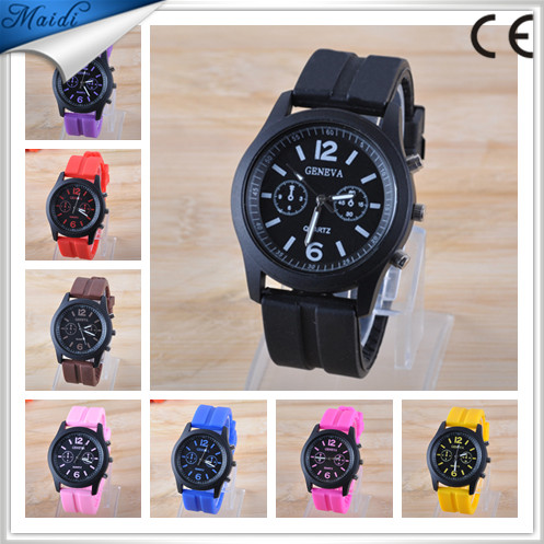 Fashion Brand GENEVA Silicone Quartz Analog Watches Jelly Women Dress Casual Wristwatches Relogio Feminino GW046