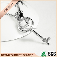 2015 newest popular key to success pendant jewelry silver 925 silver pendant