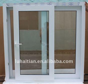 Pvc horizontal janelas de correr com a tela do inseto janelas slider buy pvc janelas de correr - Horizontal schiebefenster ...