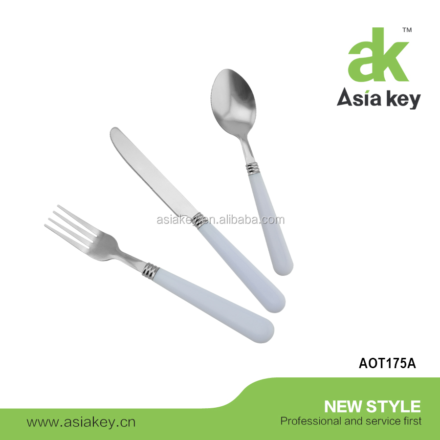 Wholesale Price 3 Piece PP Handle Flatware Cutlery Set