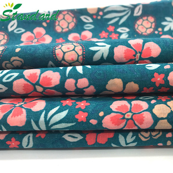 excellent quality 100% cotton woven non stretch printed high density poplin fabric for women dress