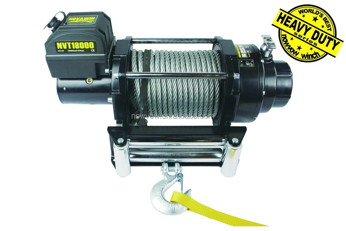 5 Ton Electric Truck Winch Nvt18000 18000lbs 12 24v