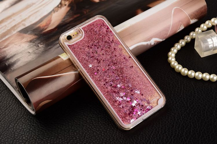 Colorful Sequins Dynamic Liquid Glitter Meteor Sand Clear Hard Shell Mobile Phone Iphone X 4 5 SE 6 6S 7 8 Plus