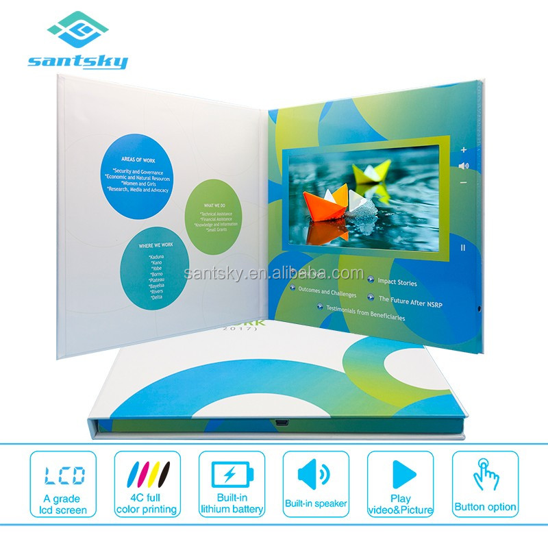 Customized Printing Living Brochure Card Most Popular Screencard Video in Print