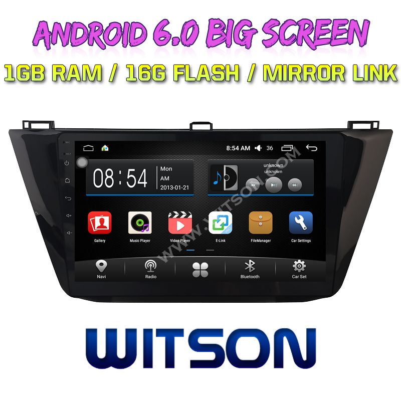 "WITSON 10.2"" BIG SCREEN ANDROID 6.0 CAR DVD GPS NAVIGATION FOR VOLKSWAGEN TIGUAN 2017"