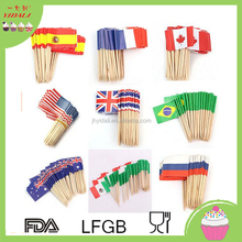 disposible party cocktail cupcake wooden mini toothpick flag picks
