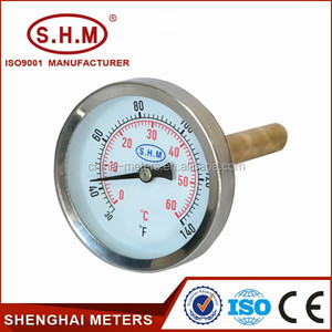 water heater bimetal thermometer, hot water thermometer