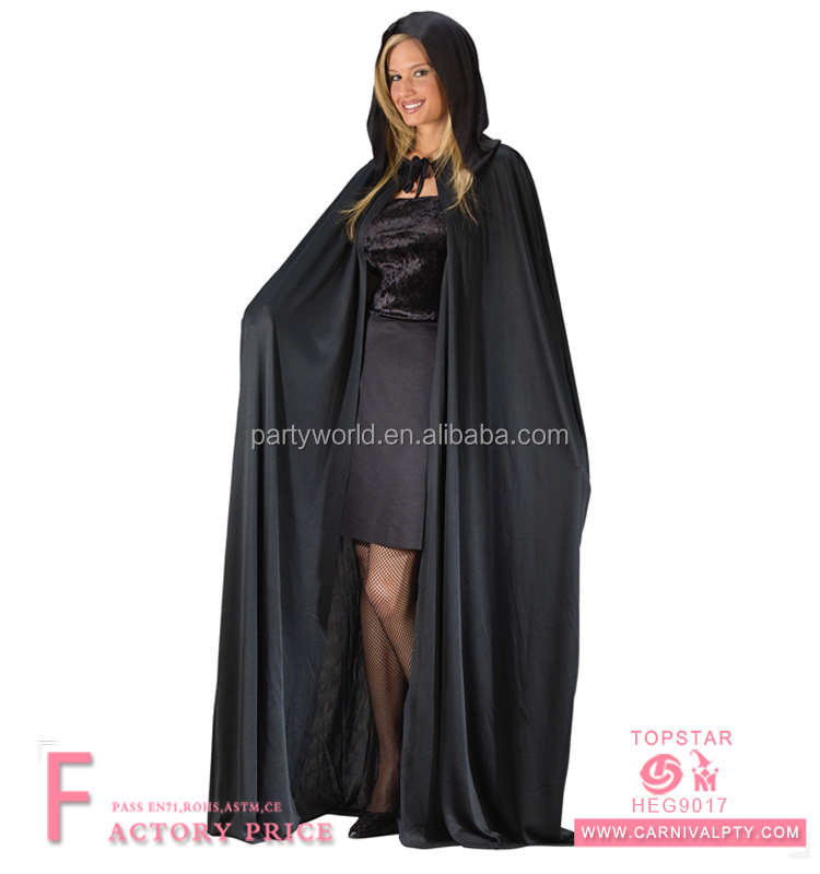 Deluxe Witch Clown Gown Adult Women Hooded Cloaks Capes Halloween ...